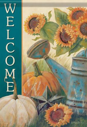 Sunflower Watering Can Fall Garden Flag Autumn Country 2