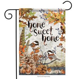 Sweet Chickadees Fall Garden Flag Acorns Birds Autumn Double