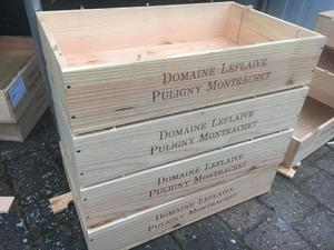 Wooden wine boxes