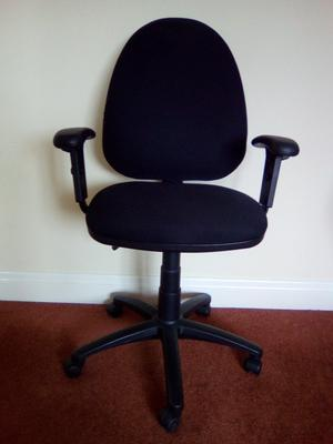 Black office chair with arms