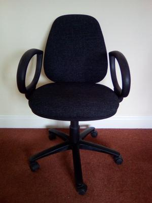 Dark grey office chair with arms