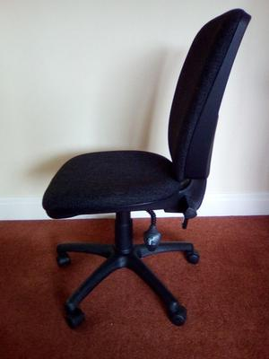 Dark grey office chair without arms
