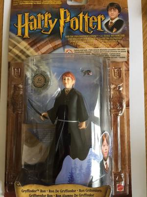 Harry Potter: 4 plastic figures - still in box - unopened (Harry, Hermione, Invisibility Cloak & Ron