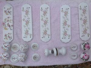 Porcelain Door Knobs and Finger Plates