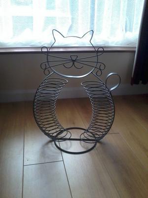 Cat shaped CD rack