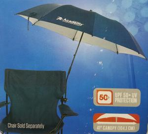 Clamp On Beach Chair Umbrella Navy Blue 50+ UVB Protection