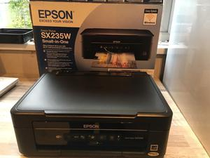 Epson sx235w wireless printer and scanner with 3 new sets of ink cartridges