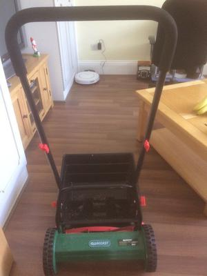 Qualcast hand push mower in near perfect condition