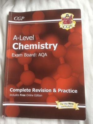 A level chemistry textbook by CGP