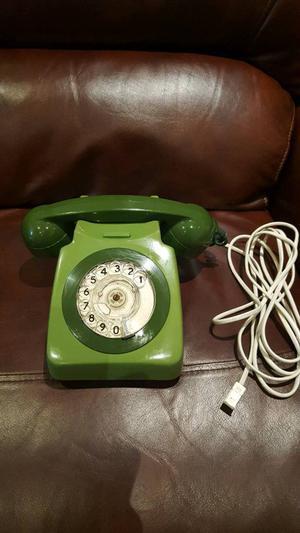 Original 80s two tone green GPO rotary dial telephone