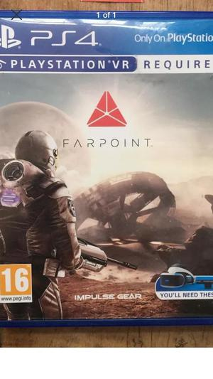 Farpoint Sony PS4 VR virtual reality game