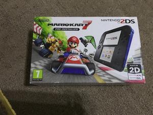 Nintendo Nintendo UK Nintendo Handheld Console - Black/Blue 2DS with Pre-installed Mario Kart 7