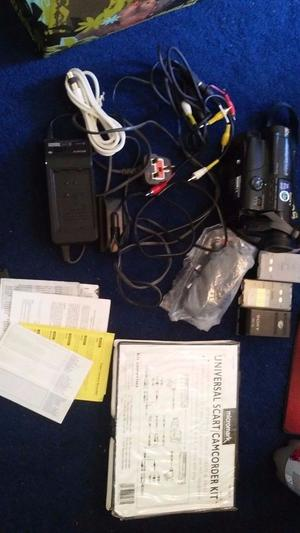 Sony CCD-TR420E Camcorder with all possible accessories, wires & a case