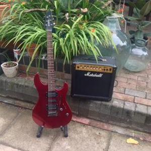 YAMAHA N89 Electric Guitar and Marshall Amplifier