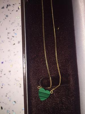 9CT GOLD CHAIN WITH JADE PENDANT