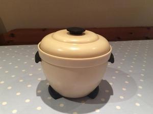 Antique, Art Deco Cream & Black Ice Bucket. Excellent condition