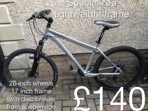 Lightweight Specialized hardrock pro 17.5 inch M frame Mtb mountain bike hardtail £140