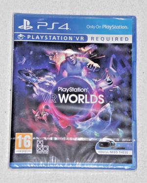 SONY PLAYSTATION PS4 GAME PSVR PLAYSTATION WORLDS VIRTUAL REALITY.PAL 16 SEALED