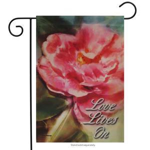 """Love Lives Memorial Decorative Garden Flag 12.5"""" x 18"""""""