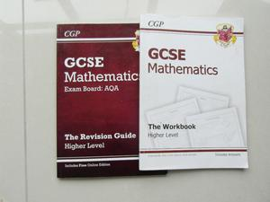 Mathematics GCSE Workbook with answers and Revision Guide with answers.