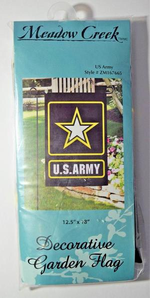 United States US Army Black Gold Decorative Garden Flag