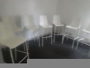 White high chairs 30 pounds each ideal for cafe use etc
