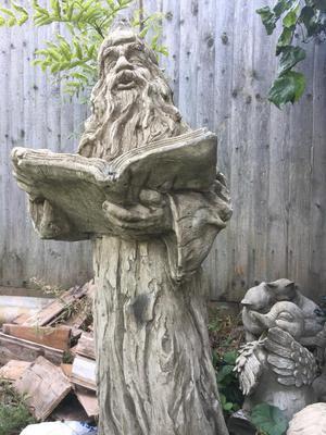 Wizards concrete stone garden ornament