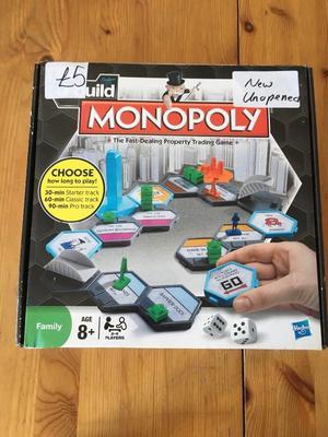 BRAND NEW UNOPENED hasbro u-build monopoly board game