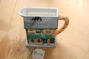 Coronation street retro vintage jug. Village collection with certificate. Handpainted by Annie Rowe