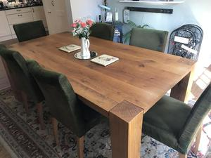 Dining room chairs - solid oak