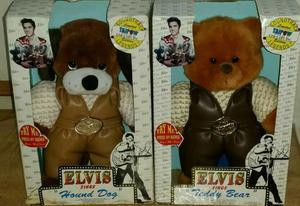 Elvis Presley singing Hound Dog and teddy bear