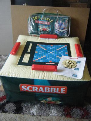 Giant INFLATABLE SCRABBLE. By Mattel Games . Excellent and complete.