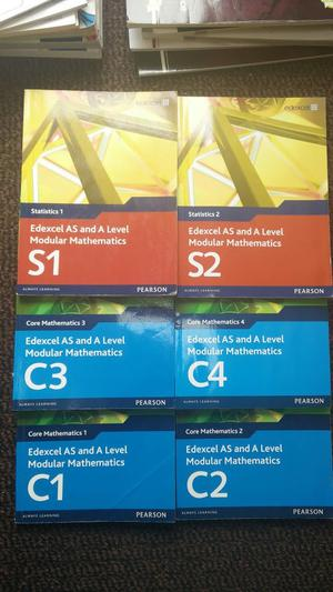 PEARSON EDEXCEL A LEVEL MATHS BOOKS WITH CD ROMS