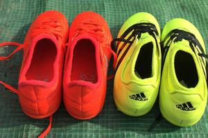 2 Pairs Adidas Football Boots Size 1