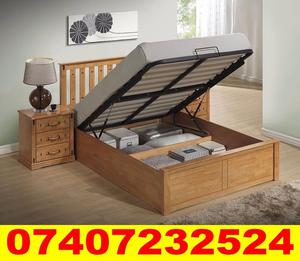 Double and King Size Wooden Ottoman Bed.. Beech Grove