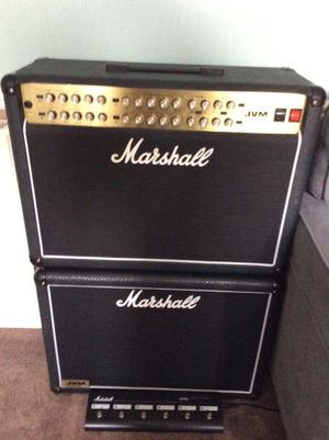 Marshall jvm410c 2x12 combo with marshall jvm 2x12 extension cabinet