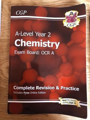 OCR A. A LEVEL CHEMISTRY HEAD START + AS + A LEVEL textbooks