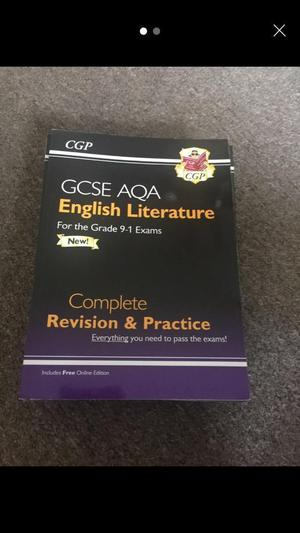 GCSE 9-1 English literature revision guide
