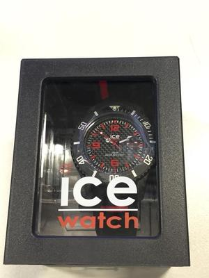 (New with box) Watch Ice-watch Carbon Ca.3h.bk.b.s. with Silicone Strap - Black