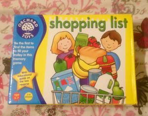 """ORCHARD TOYS """"SHOPPING LIST"""" GAME. COMPLETE AND VERY GOOD CONDITION."""