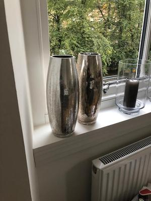 Pair of Metallic Effect Vases
