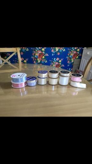 Ribbon Bundle Arts & Crafts Floristry Haberdashery Sewing Projects inc John Lewis Ribbons Just £10