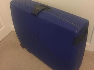 Free Large blue hard suitcase. Good clean condition