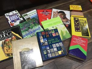 Selection of hard back books from quizzes to Egypt and gardening