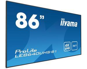 "iiyama LEUHS-B1 86"" LED 4K Ultra HD signage display -"