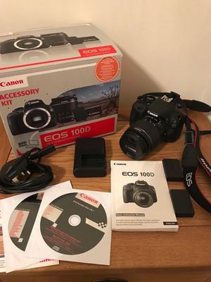 Canon EOS100D digital slr camera and lens