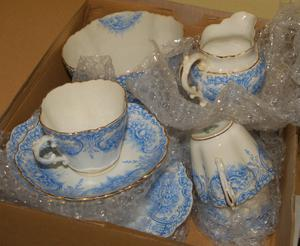 Vintage Tea Set - Aynsley - RD. No.  cups, saucers, plates and sugar bowl and Cream Jug
