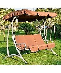 3 Seater Metal Garden Swing Chair Bench