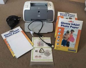 HP digital camera photo printer with accessories