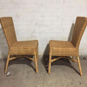 Pair of Vintage Wicker Chairs